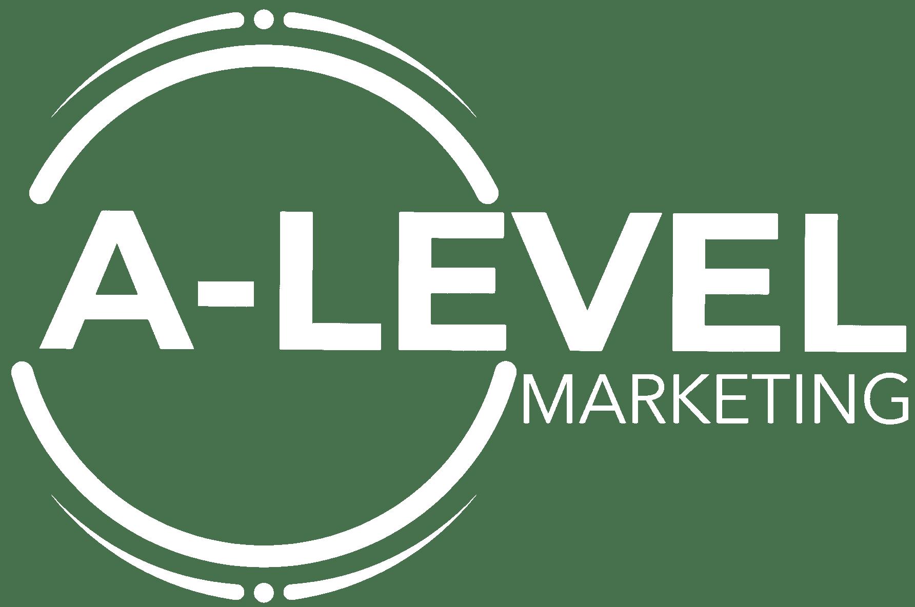 a-level marketing logo white